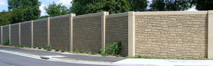 Rock Fence Sound Panels