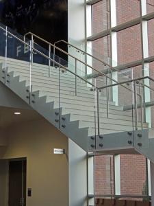 BSU Football Stair Close-up